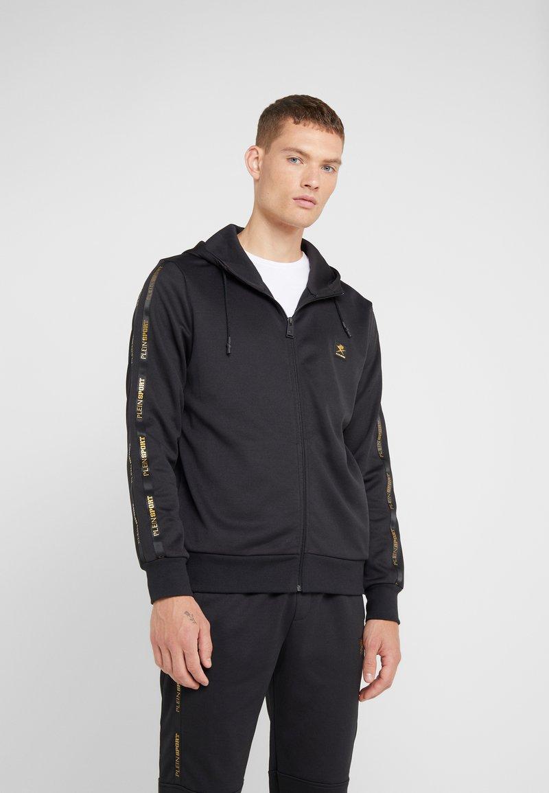 Plein Sport - HOODIE STATEMENT - Zip-up hoodie - black