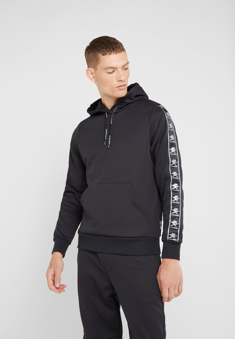 Plein Sport - HOODIE STRIPES - Sweat à capuche - black