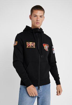 HOODIE STATMENT - veste en sweat zippée - black