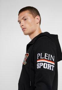 Plein Sport - HOODIE STATMENT - Felpa aperta - black - 4