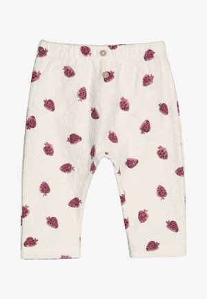 TROUSERS BABY - Leggings - Trousers - white/pink