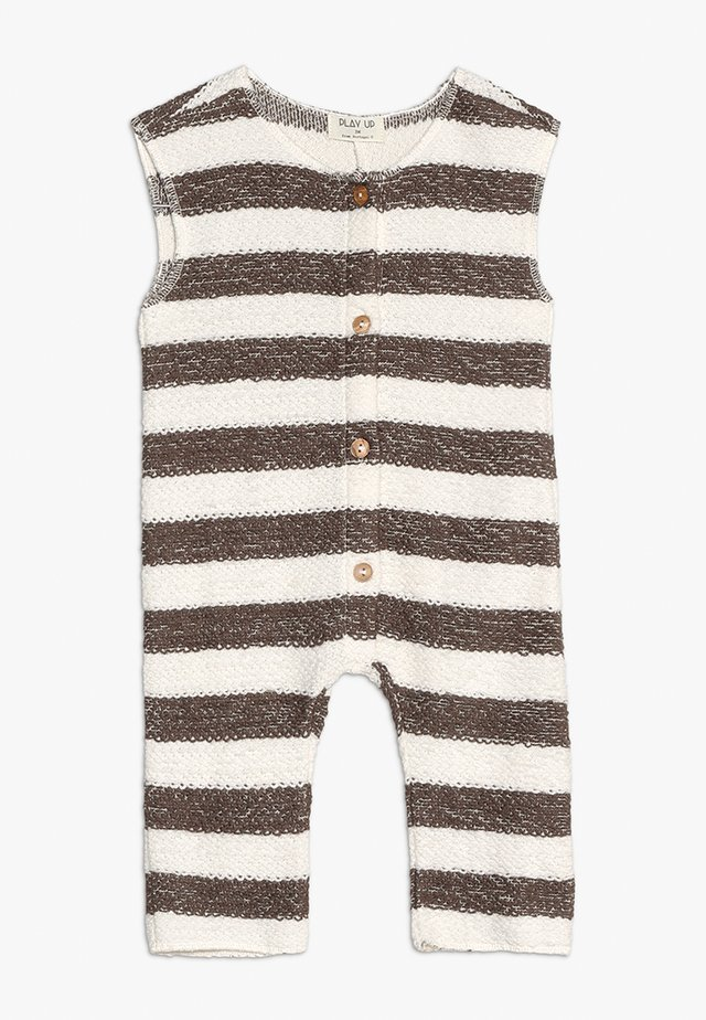 STRIPED BABY - Jumpsuit - white/brown