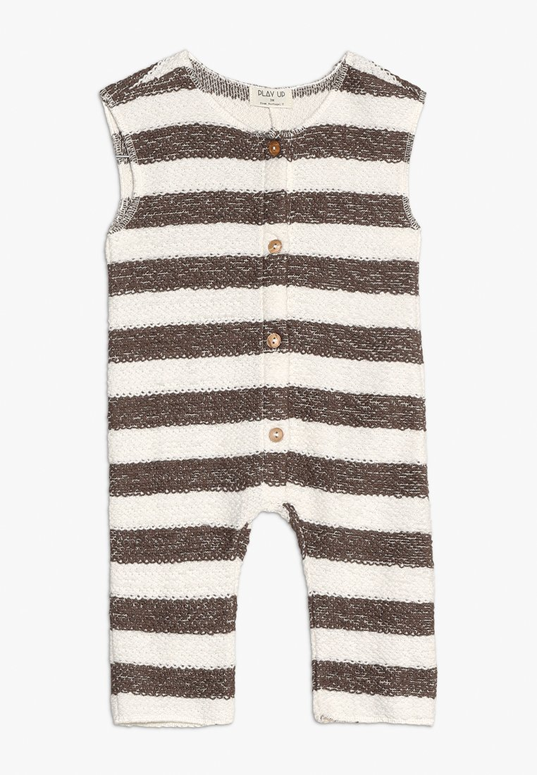 Play Up - STRIPED BABY - Overal - white/brown