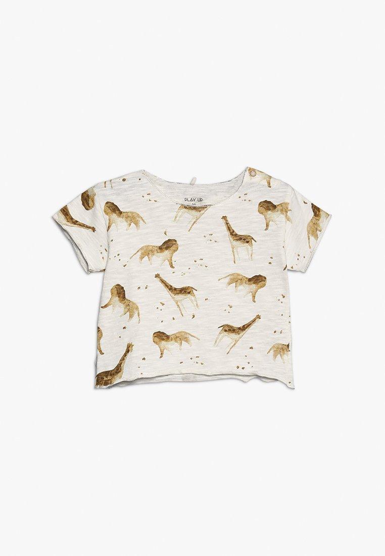 Play Up - BABY - T-shirt z nadrukiem - white