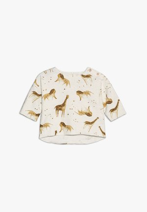 PRINTED TERRY BABY - Long sleeved top - white