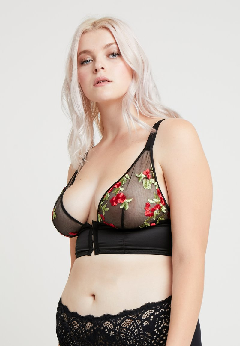 Playful Promises - GABI FRESH X PLAYFUL PROMISES EMBROIDERED BRA - Soutien-gorge triangle - red