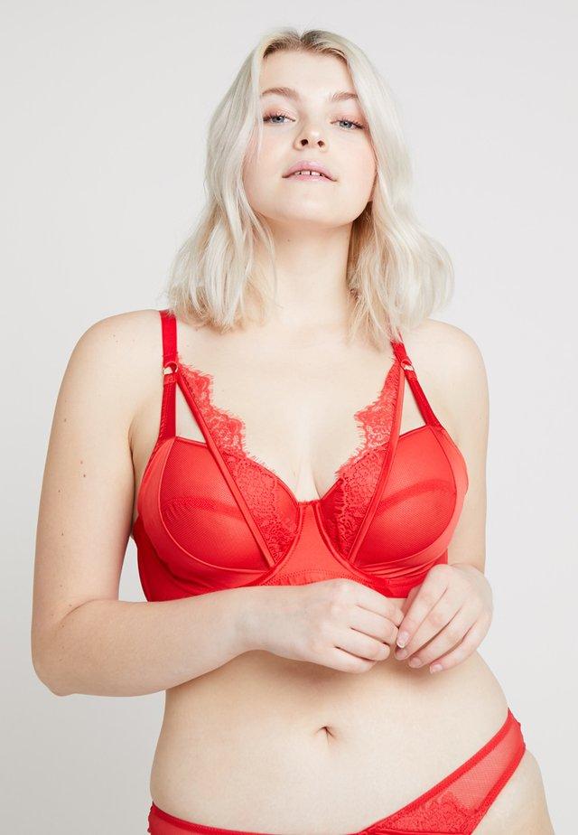 ZOYA PLUNGE BRA - Underwired bra - red