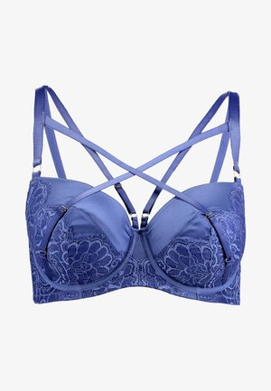 ANNIE STRAPPING CONTRAST PADDED PLUNGE BRA - Podprsenka s kosticemi - blue
