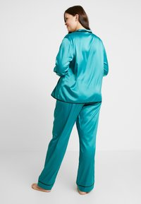 Playful Promises - WITH CONTRAST PIPING SET - Pyjama set - teal - 2