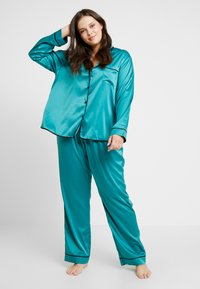 Playful Promises - WITH CONTRAST PIPING SET - Pyjama set - teal - 1