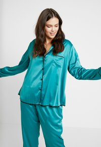 Playful Promises - WITH CONTRAST PIPING SET - Pyjama set - teal - 3