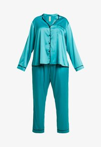 Playful Promises - WITH CONTRAST PIPING SET - Pyjama set - teal - 4