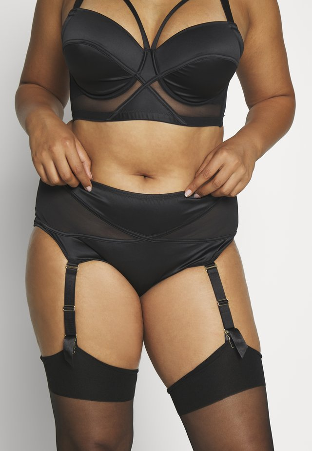 AURORA HIGH WAIST BRIEF - Kalhotky/slipy - black