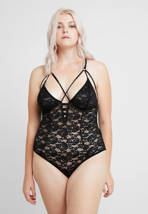 CHARLOTTE TRIANGLE ALL OVER STRAPPY - Body - black