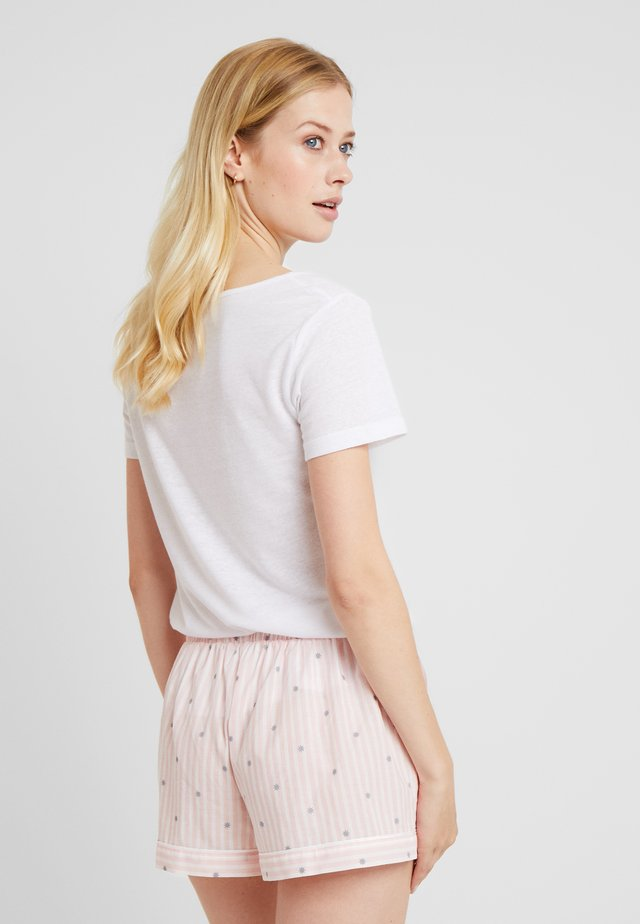 LITTLE STRIPE SHORTS - Pyjamasbyxor - rose/weiss