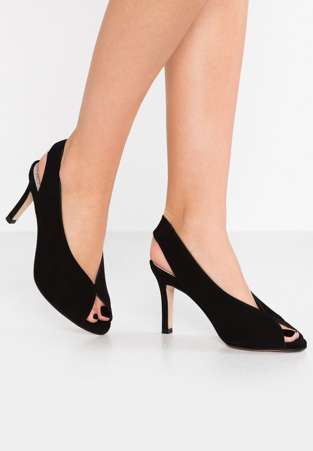 YORK - High Heel Peeptoe - black