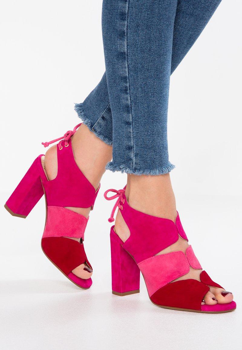 Pedro Miralles - YORK - High heeled sandals - amalfi sangria/fucsia