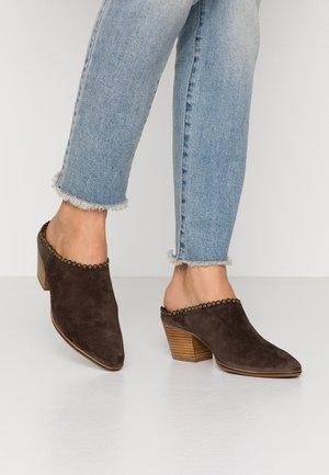 Pantofle na podpatku - testa