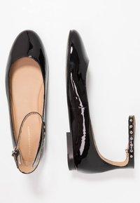Polo Ralph Lauren - KINSLEY FLATS CASUAL - Ballerine con cinturino - black - 3