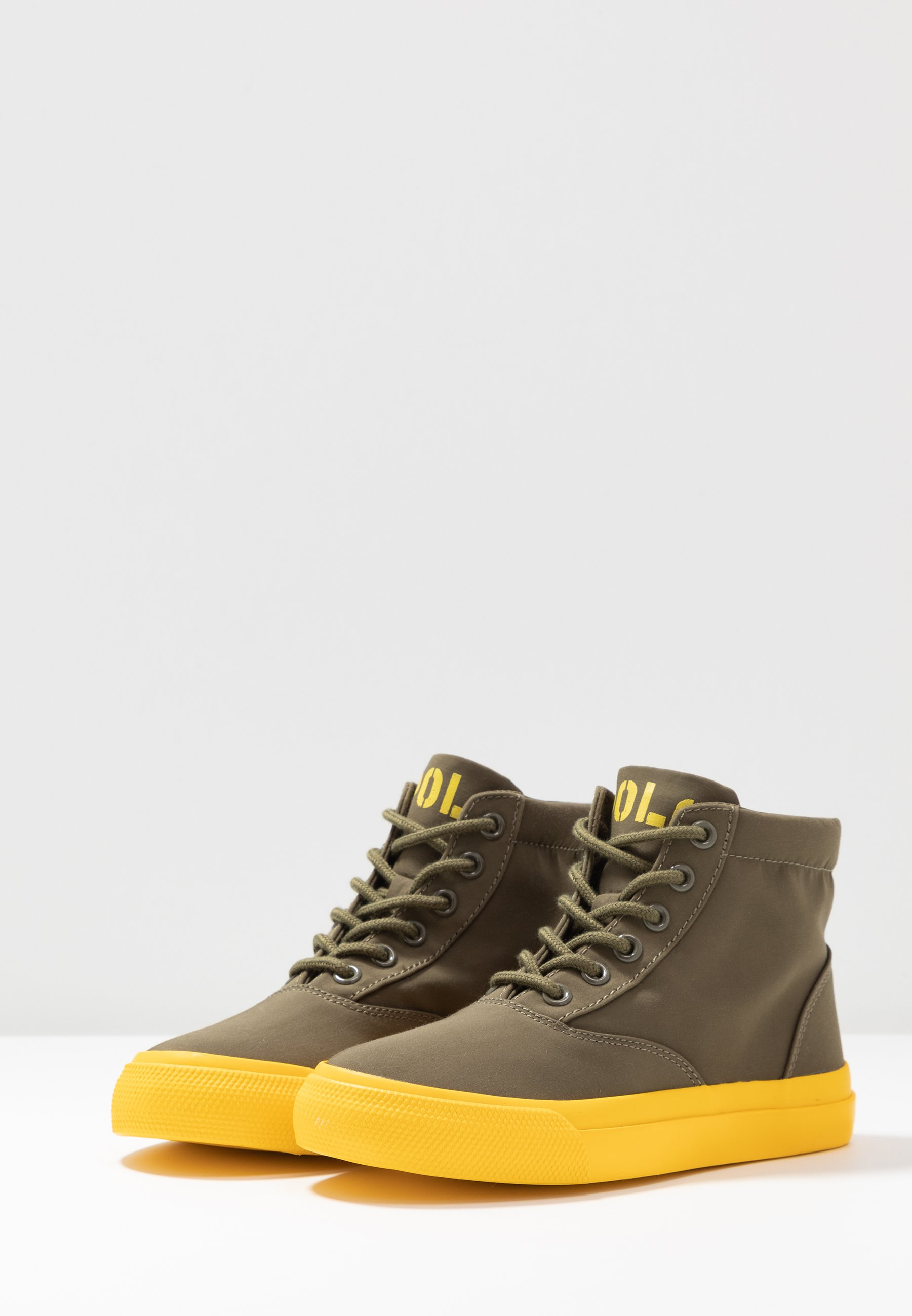 Polo Ralph Lauren Höga sneakers - military/yellow