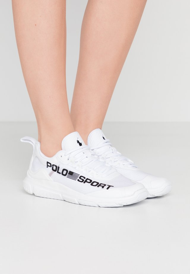 RIPSTOP TECH RACER - Sneaker low - white/black