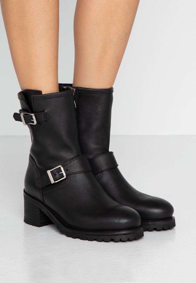 Polo Ralph Lauren - Kovbojské/motorkářské boty - black