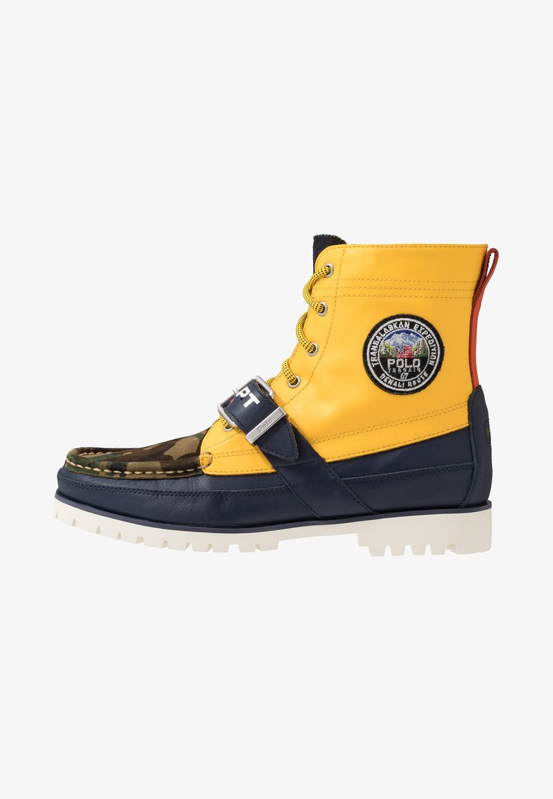 Polo Ralph Lauren - RANGER BOOT - Lace-up ankle boots - yellow