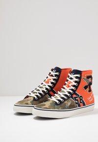 Polo Ralph Lauren - SOLOMON - Baskets montantes - orange/multicolor - 2