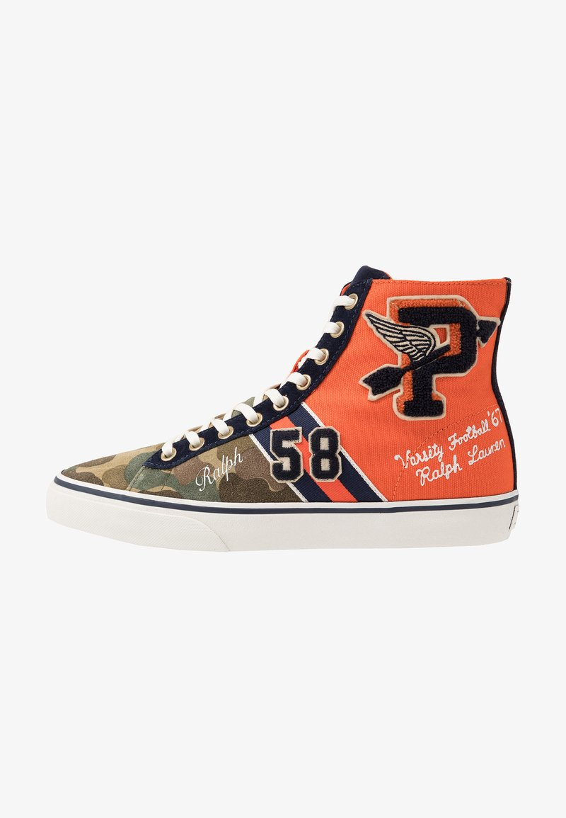 Polo Ralph Lauren - SOLOMON - Höga sneakers - orange/multicolor