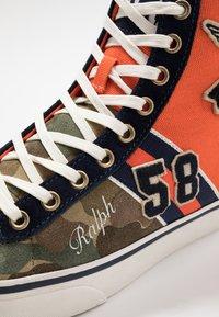Polo Ralph Lauren - SOLOMON - Baskets montantes - orange/multicolor - 5