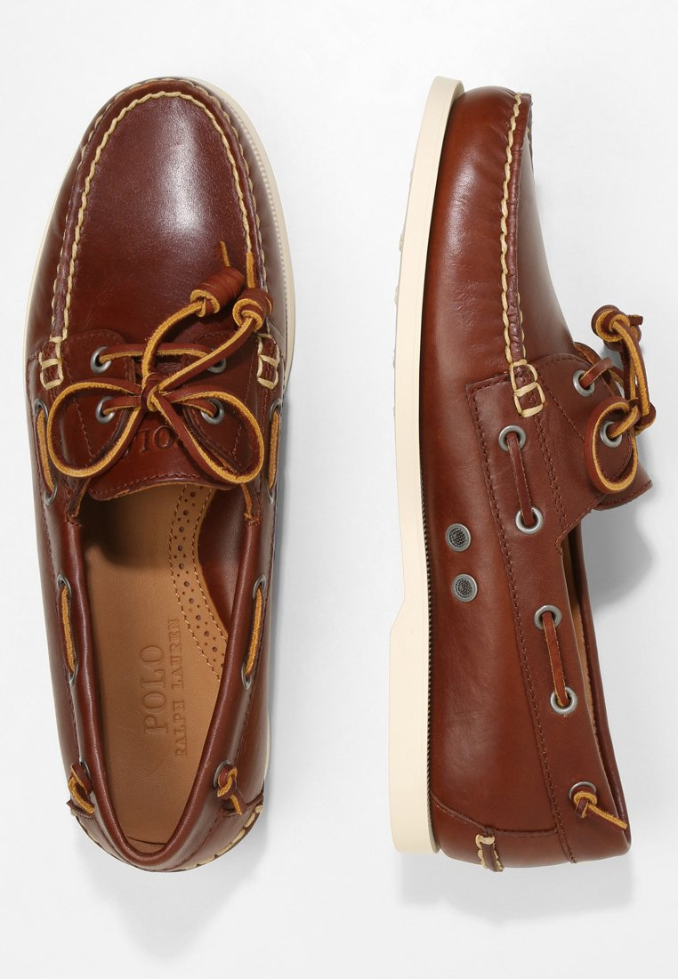 MERTON Chaussures bateau deep saddle tan