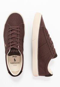 Polo Ralph Lauren - SAYER - Sneakersy niskie - dark brown - 1