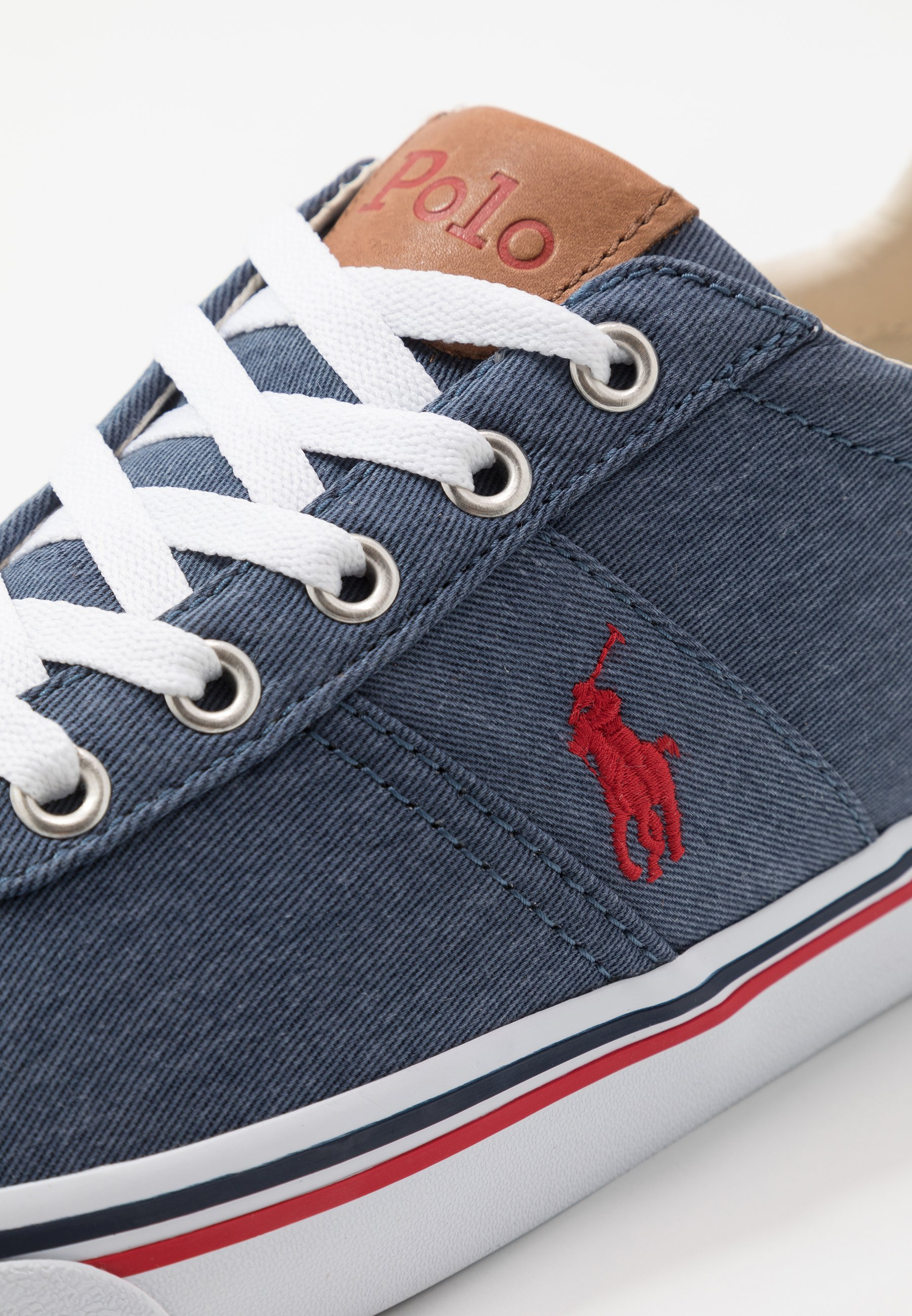 Polo Ralph Lauren Hanford - Baskets Basses Newport Navy/red