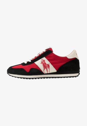 TRAIN 90 - Matalavartiset tennarit - black/red