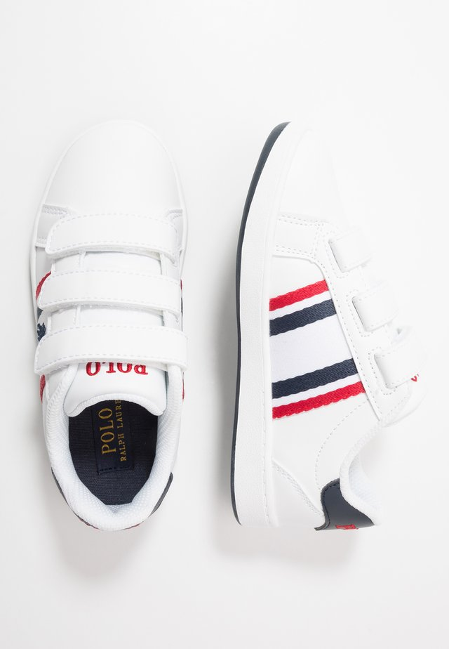 OAKLYN - Sneakers laag - white/navy/red