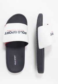 Polo Ralph Lauren - LEARY II - Sandalias planas - white/red/navy - 0