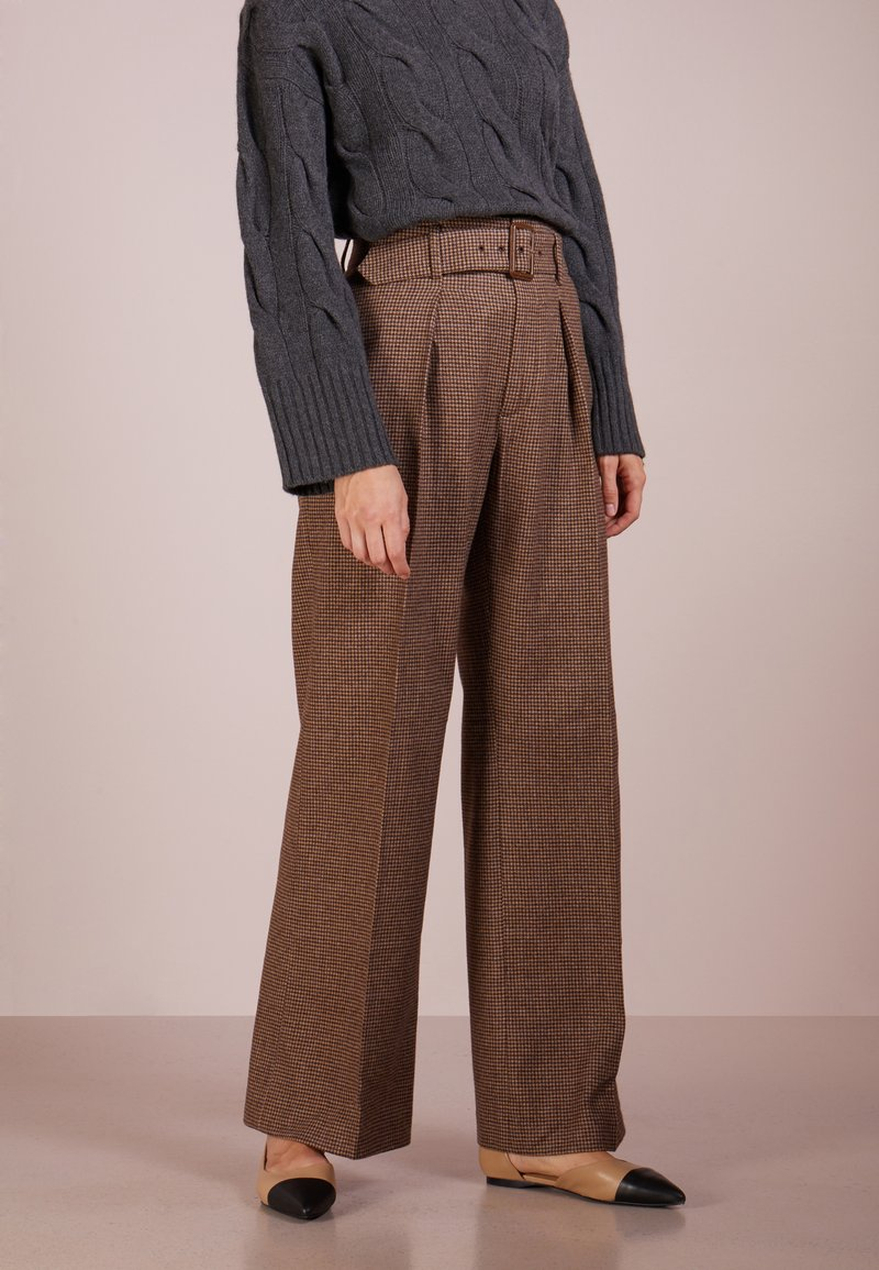 Polo Ralph Lauren - MINI HNDSTOOTH  - Pantaloni - brown/camel hound