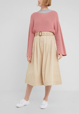 PIECE  - A-snit nederdel/ A-formede nederdele - classic tan