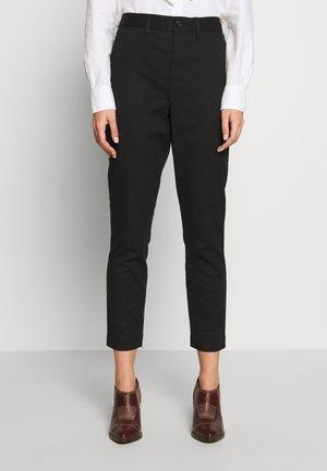 SLIM LEG PANT - Trousers - black