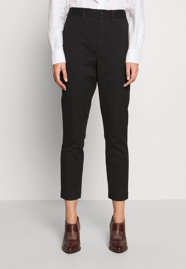 SLIM LEG PANT - Spodnie materiałowe - black