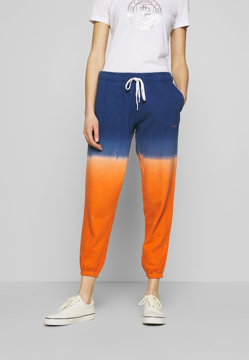 Polo Ralph Lauren - ANKLE PANT - Pantaloni sportivi - navy/orange ombre
