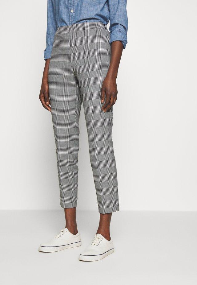 SKINNY PANT - Spodnie materiałowe - black/white gingh