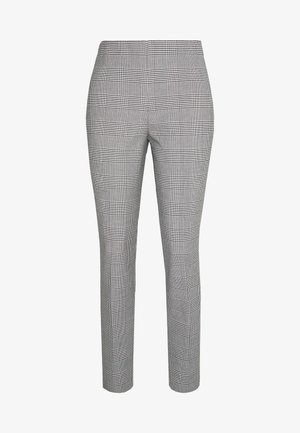 SKINNY PANT - Trousers - black/white gingh