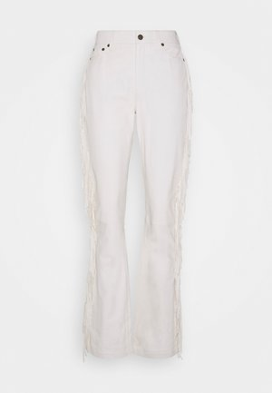 CORY - Leather trousers - white