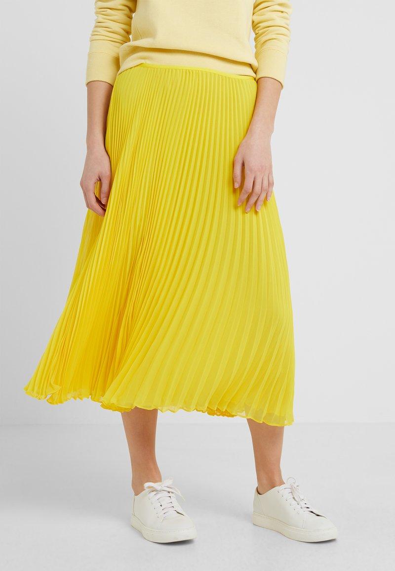 Polo Ralph Lauren - PLEATED - A-line skirt - lemon rind