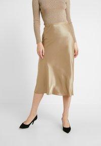 Polo Ralph Lauren - AMLA SK-SKIRT - Áčková sukně - montana khaki - 0
