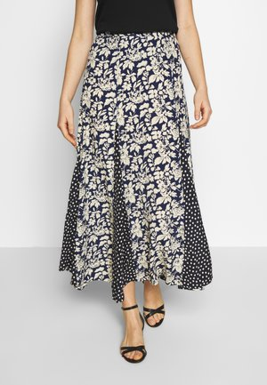 SKIRT - A-line skirt - navy/sprin