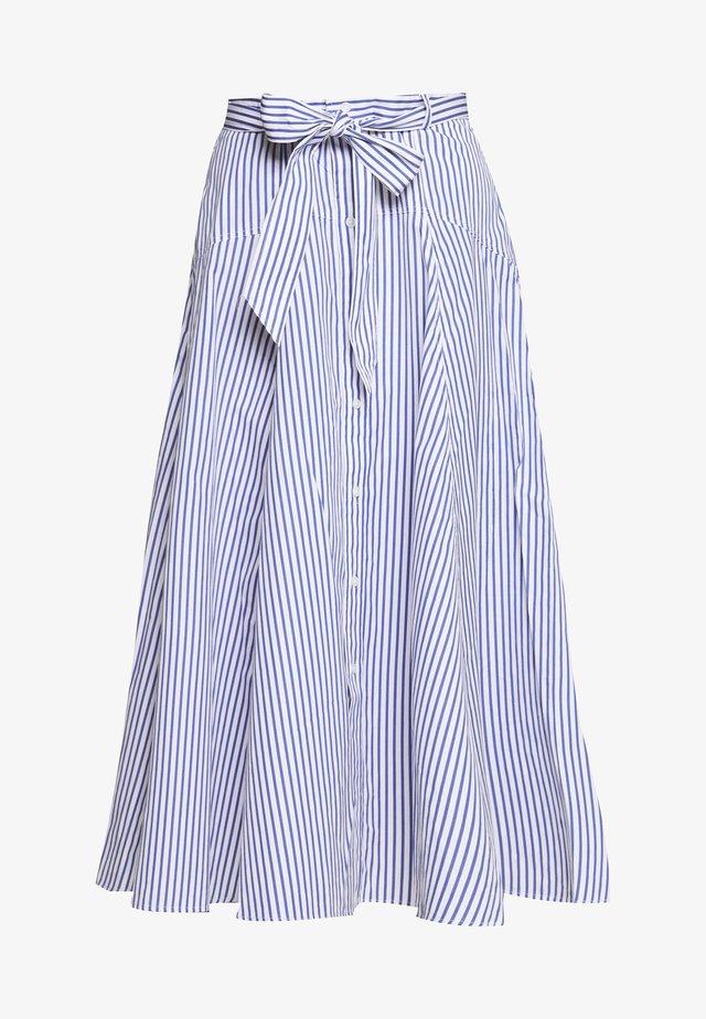 A-line skirt - white/blue