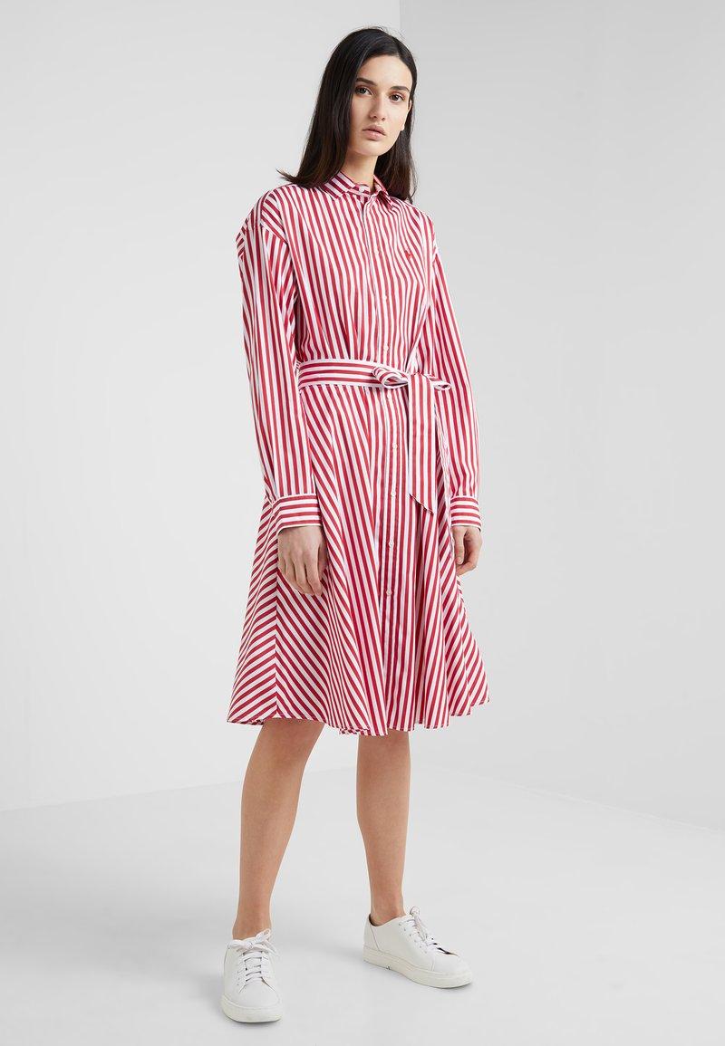 Polo Ralph Lauren - Shirt dress - red/ white