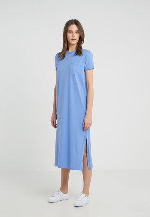UNEVEN - Jersey dress - lake blue